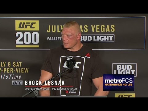 UFC 200: Brock Lesnar - Post-Fight Press Conference Highlights