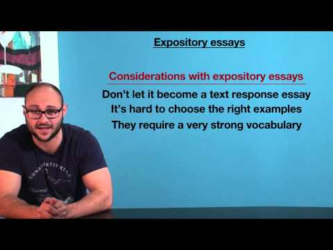 Writing Expository Essays Vce