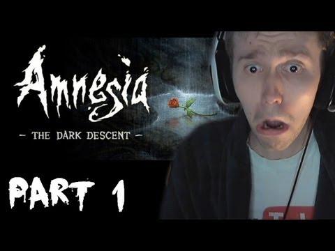SCARY GAMES! - Amnesia The Dark Descent Walkthrough Part 1 W/ Facecam & Reactions