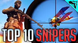 FARTHEST SNIPER KILL - Battlefield 1 Top 10 Sniper Long Range Kills, Feeds & HEADSHOTS - WBCW #175