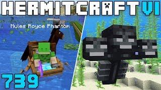 Hermitcraft VI 739 Underwater Wither Fight!