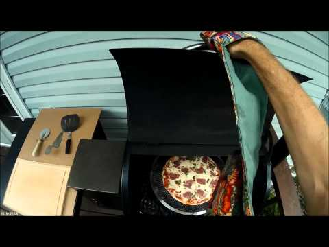 Archie's Frozen Pizza Cooked On A Traeger Wood Pellet BBQ