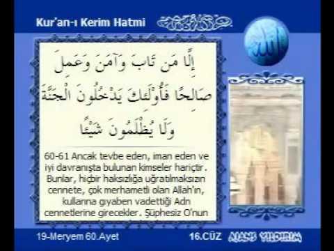 Kur'an-ı Kerim Hatmi 16 Cüz Kabe İmamları hatim