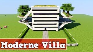 Wie baut man eine moderne Villa in Minecraft | Minecraft Moderne Villa Bauen Deutsch Tutorial
