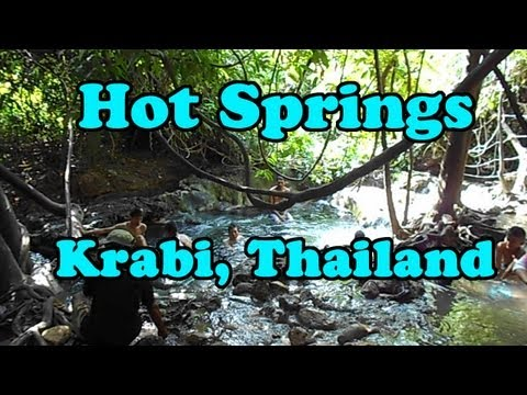 Hot Springs, Krabi Thailand. Near the Emerald Pool in Klong Thom.