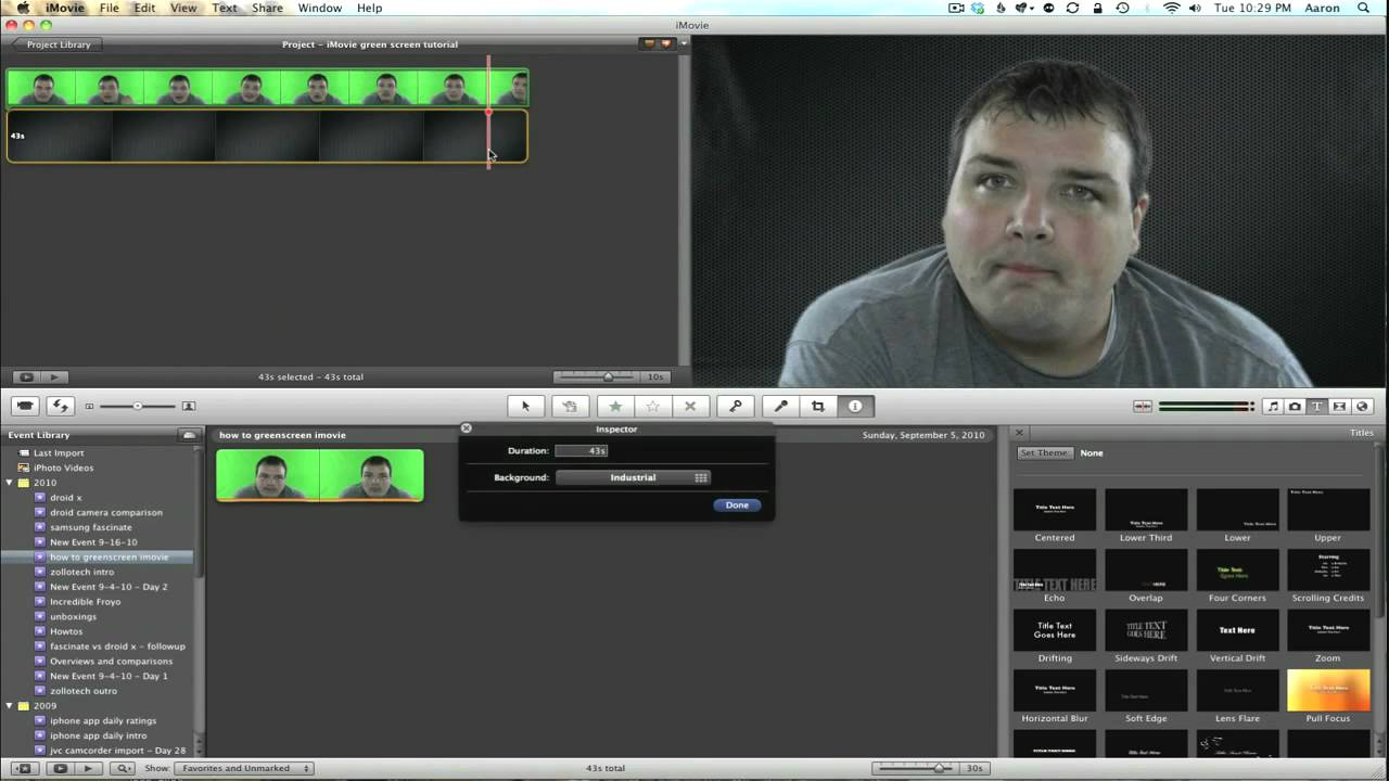 how to add background on imovie