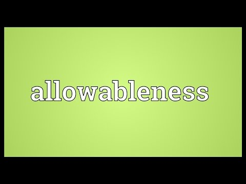 Header of allowableness