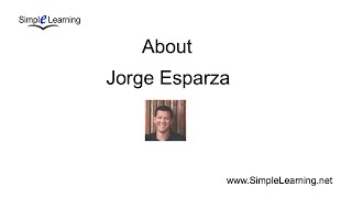About Jorge with Simple Learning (.net)