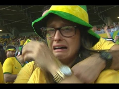 Watch- Brazil Fans Crying During The Mach Brazil vs Germany 1-7 / Semifinal FIFA World Cup 2014