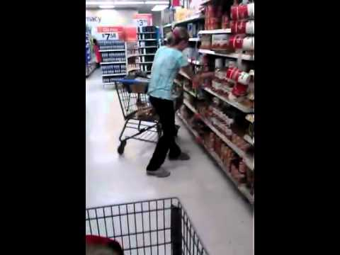 Girl tweaking out at Walmart (owner original)
