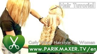 Curly Wavy Hairstyle for Women parikmaxer tv english version