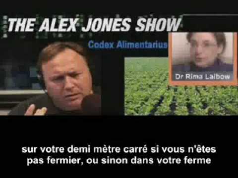 Alex Jones: Codex alimentarius (décembre 2008) 1/2   (VOST)
