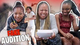 MY FAMILY SET ME UP ON A FAKE AUDITION *had me do crazy stuff**