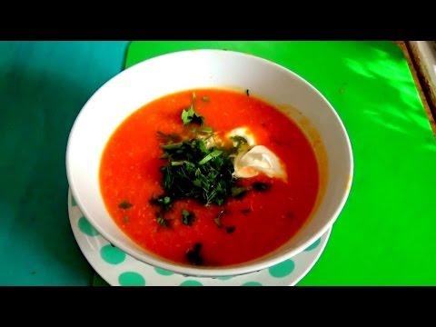 Вкусный тыквенный суп-пюре с курицей легко и просто.