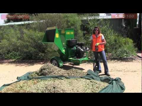 Red Roo: Model CMS 100 - Garden Mulcher, Chipper and Shredder
