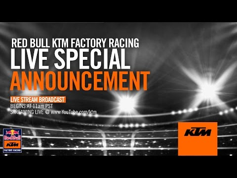 Red Bull KTM Factory Racing Special Announcement