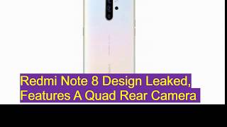 Redmi Note 8 series renders launch soon  in China then in  India