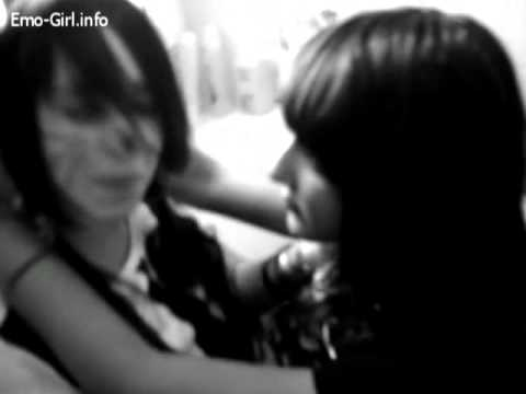 French Emo Girls Kissing