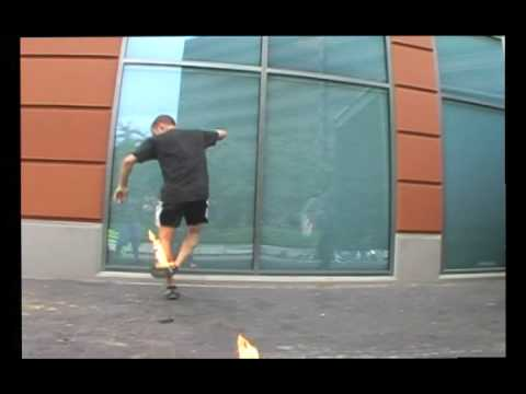 Penske Shreds: Fire Footbag Video