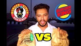 Tasting challenge   Burger king vs Burger singh   Food vlog