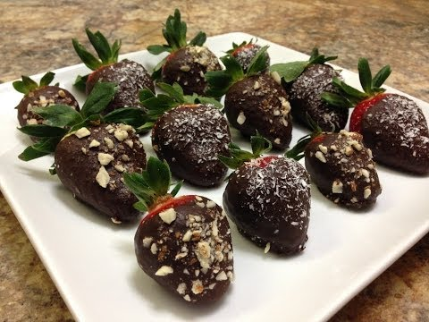 Healthy Chocolate Covered Strawberries - HASfit Vegan Chocolate Sauce - Healthy Dessert Recipes