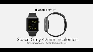Apple Watch Kutu Açılımı 42mm Space Grey