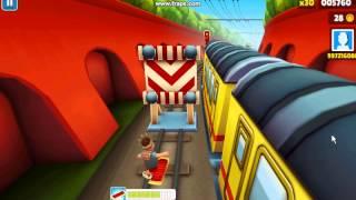 Посмотреть ролик - Взлом игры Subway Surfs на компьютер,баги,Ссылка на игру!
