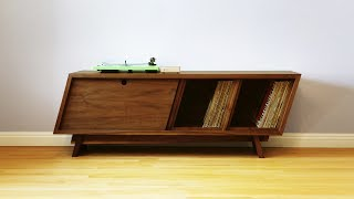 Designing and Building a Record Player Cabinet - Woodworking