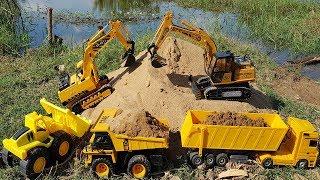 Build Bridge Blocks Toys for Kids Excavator Construction Vehicles for Children | Vic Vic