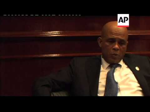 Martelly says Venezuela aid, oil help country's quake recovery
