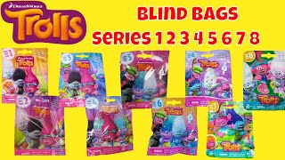 Blind Bags Trolls Series 1 2 3 4 5 6 7 8 Opening Surprises Toys Dreamworks Toy Review