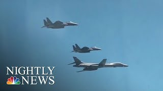 U.S. Flexes Military Muscle At North Korea | NBC Nightly News