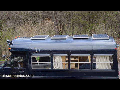 Teen converts bus into off-grid $5600 photovoltaic tiny home