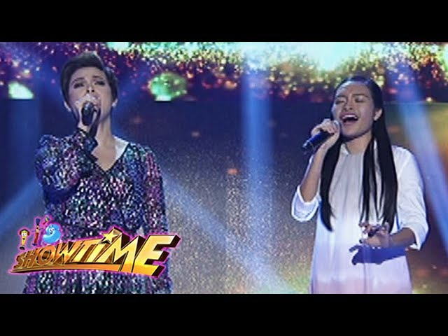 It's Showtime: Coach Lea duets with Mica Becerro