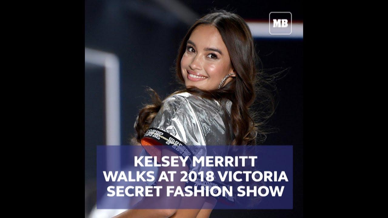 Kelsey Merritt walks at 2018 Victoria's Secret Fashion Show