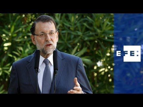 Rajoy expone al Rey optimismo sobre economía y medidas para crisis del Peñón.