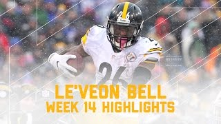 Le'Veon Bell Plows Through Snow for 3 TDs & Career-High 298 Total Yards! | NFL Player Highlights