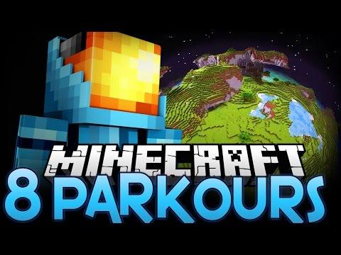 MISSION IMPOSSIBLE! - Around Minecraft in 8 Parkours (Minecraft Parkour)
