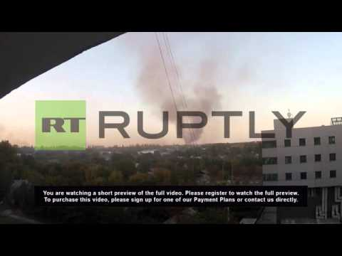 Ukraine: Smoke billows from battered Donetsk airport