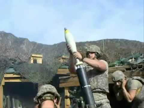 U.S. Army Soldiers Provide Mortar Support In Afghanistan
