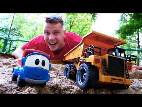 Веселая школа - Изучаем строительную технику. Видео для детей