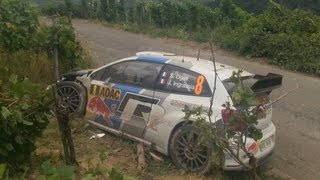 Sebastien Ogier Crash  WRC Rallye Germany 2013 / Deutschland Rallye Tag 2
