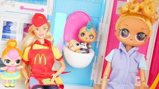 Lil Brother Visit Barbie Two Story House Mansion for Halloween Costumes