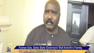 Former Edo State Governor Visits Anenih's Family, Says Late Elder Statesman A Father To All