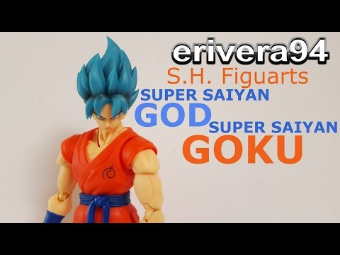 S.H. Figuarts Super Saiyan God SS Goku figure Review Dragon ball Z