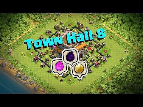 Clash of Clans | Town Hall 8 Base Layout | 2017 Farming