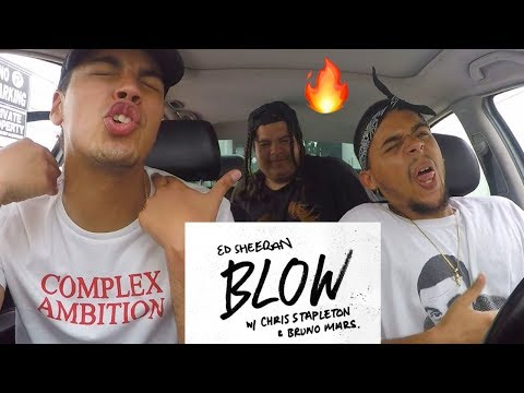 Ed Sheeran - BLOW (with Chris Stapleton & Bruno Mars) FIRST ROCK REACTION
