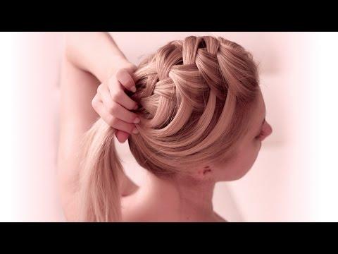 Собранная причёска своими руками