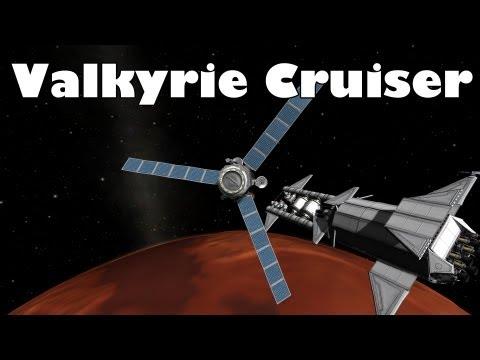 Kerbal Space Program - Valkyrie cruiser visits Duna
