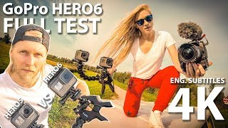 GoPro HERO6 Black Full Test in 4K + RAW VIDEO download | Treneiro Vlog